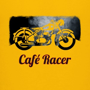 cafe-racer motorcycle Vintage Club Bike Biker smoke - Teenage Premium T-Shirt
