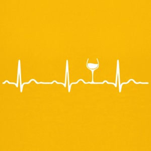 ECG HEARTBEAT WINE white - Teenage Premium T-Shirt