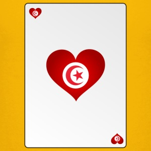 Playing Card Tunisia Heart Ass Heart - Teenage Premium T-Shirt