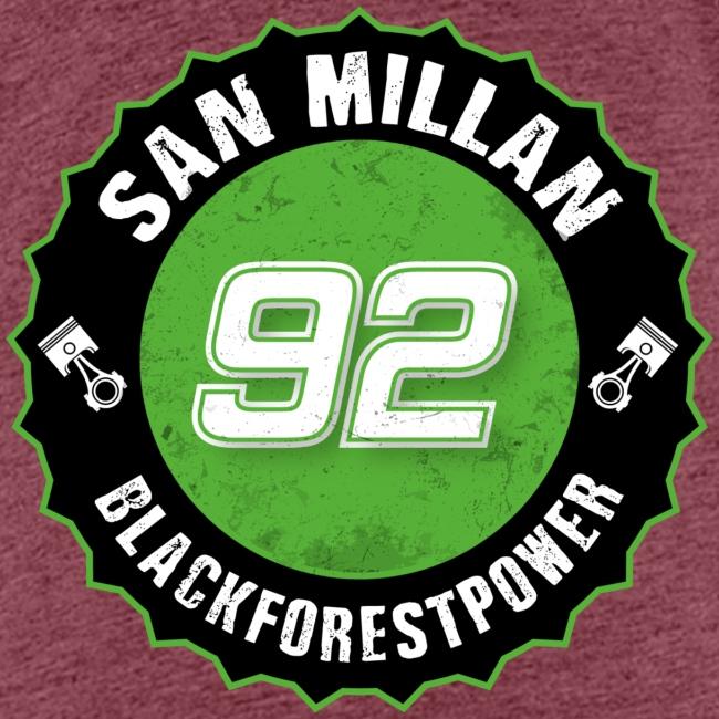 San Millan Blackforestpower 92 rund - schwarz