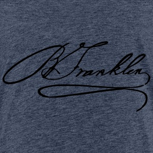Autograph of Benjamin Franklin - Teenage Premium T-Shirt
