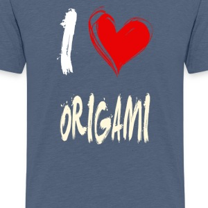 I Love Origami - Teenage Premium T-Shirt