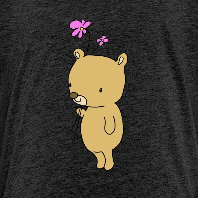 Baby Bär mit Blume