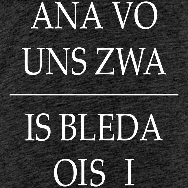 Vorschau: ana vo uns zwa is bleda ois i - Teenager Premium T-Shirt