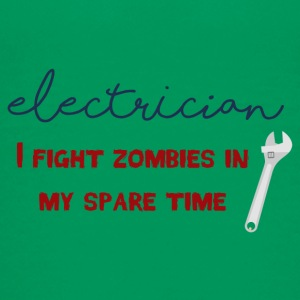Elektriker: Electrician - I fight zombies in my sp - Teenager Premium T-Shirt