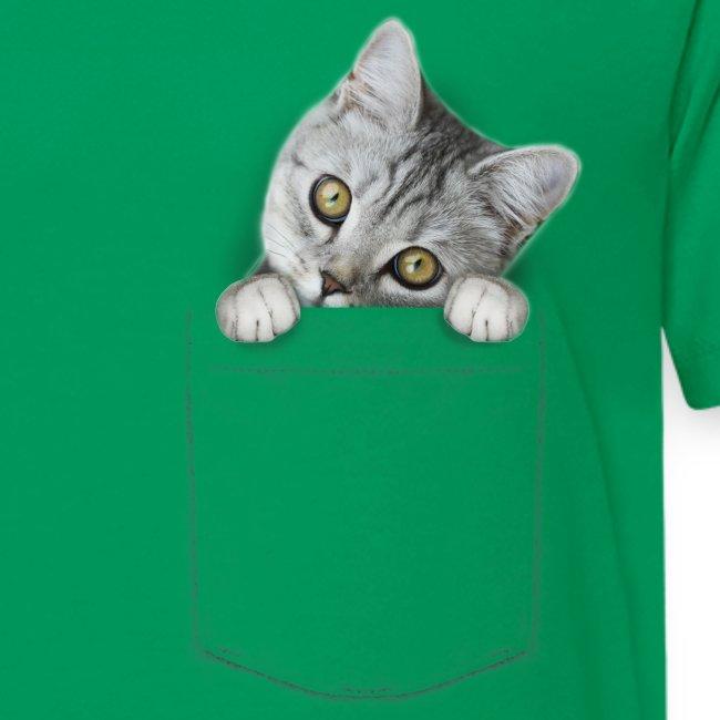 Vorschau: cat pocket - Teenager Premium T-Shirt