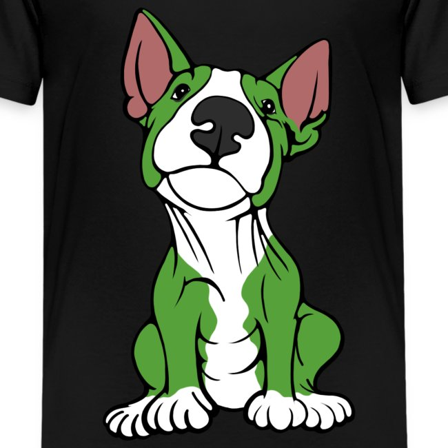 Cheeky Bull Terrier Green