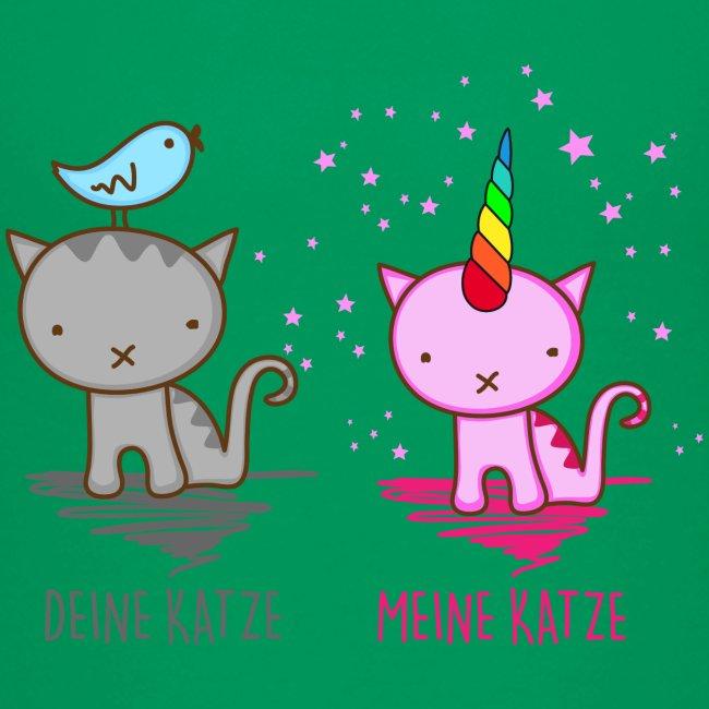 Vorschau: Deine Katze vs. Meine Katze - Teenager Premium T-Shirt