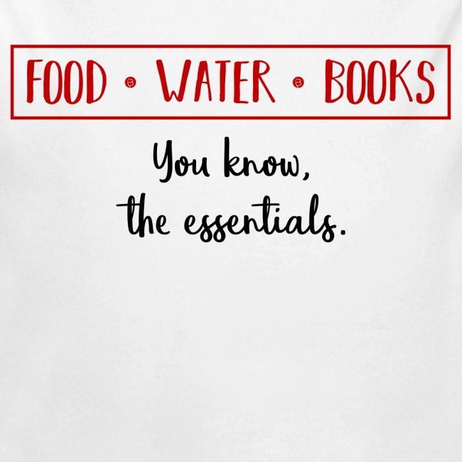 0263 Books, water and food - the essentials!