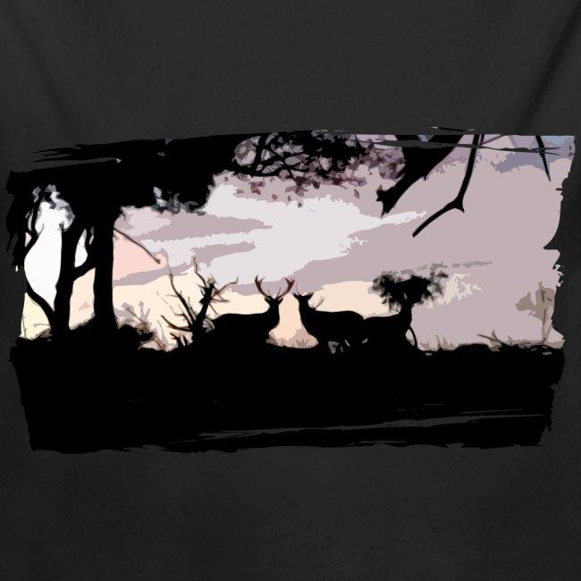 T-shirt cerf & biche personnalisé