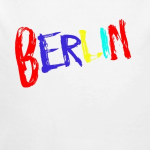 Berlin font colorful - Longlseeve Baby Bodysuit