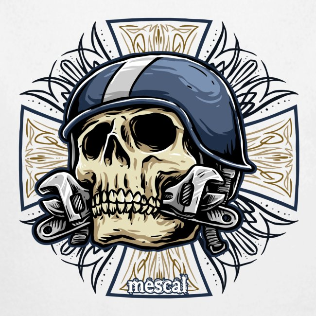 Teschio e croce per motociclisti e biker by Mescal