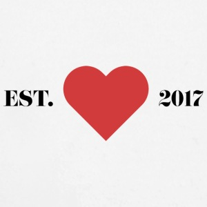 """Established 2017"" with heart. - Longlseeve Baby Bodysuit"