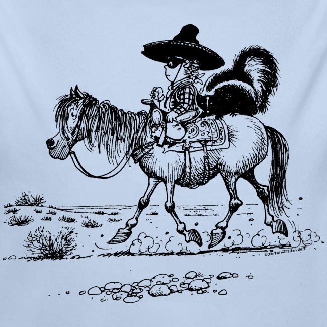 Thelwell 'Cowboy with a skunk'