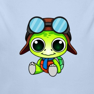Happy Turtle - Longlseeve Baby Bodysuit