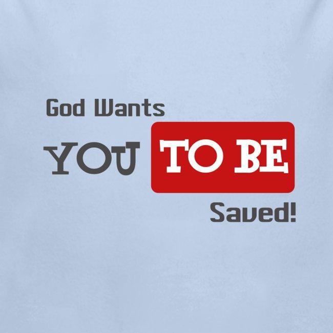 God wants you to be saved Johannes 3,16