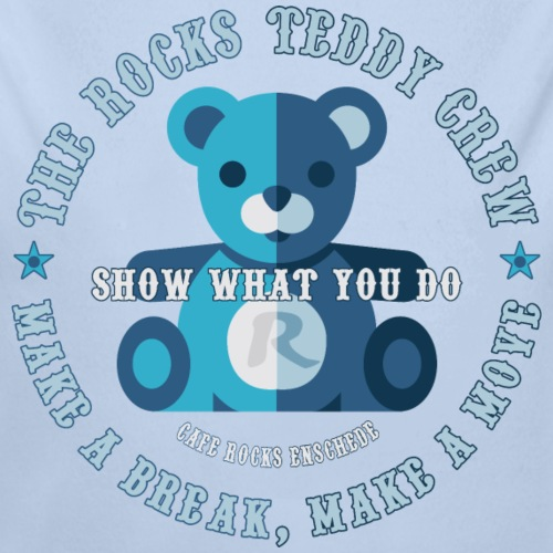 Rocks Teddy Crew - Blue - Baby bio-rompertje met lange mouwen