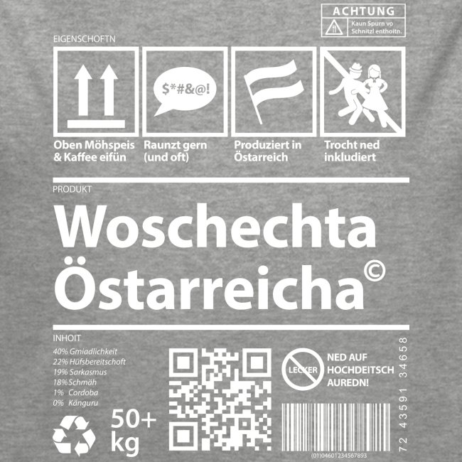 Vorschau: Woschechta Österreicha - Baby Bio-Langarm-Body