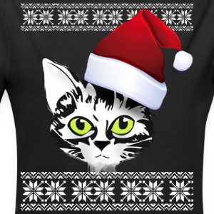 Christmas cat snow winter red cap meow gir - Longlseeve Baby Bodysuit