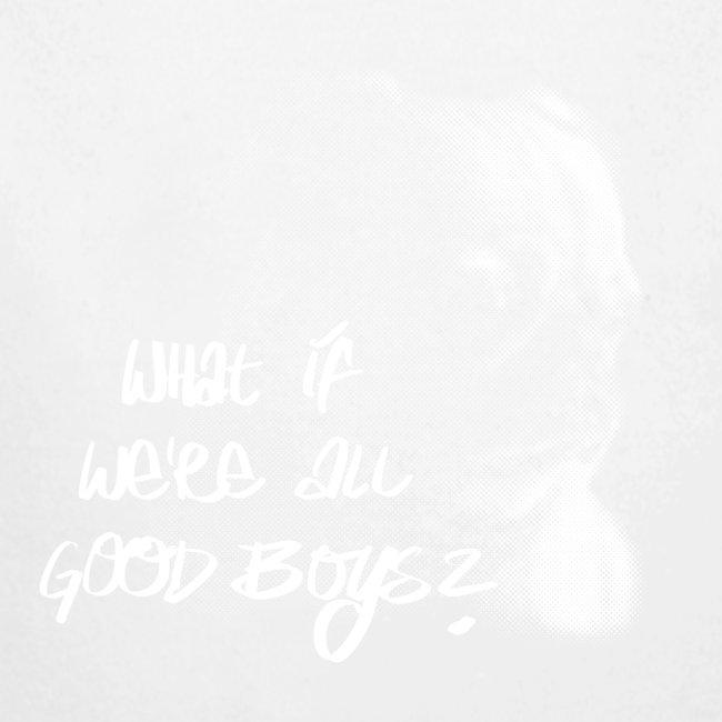 """What if we're all good boys?"" Nachdenklicher Mops"