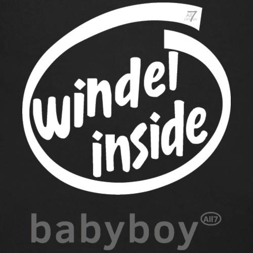 Windel inside boy weiß - Baby Bio-Langarm-Body