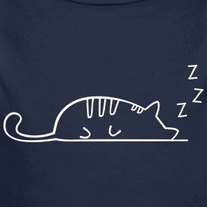 Sleeping cat - Longlseeve Baby Bodysuit