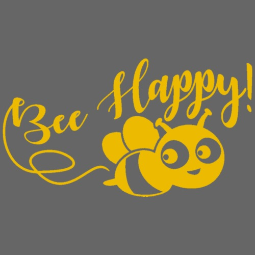 bee happy geel - Baby bio-rompertje met lange mouwen