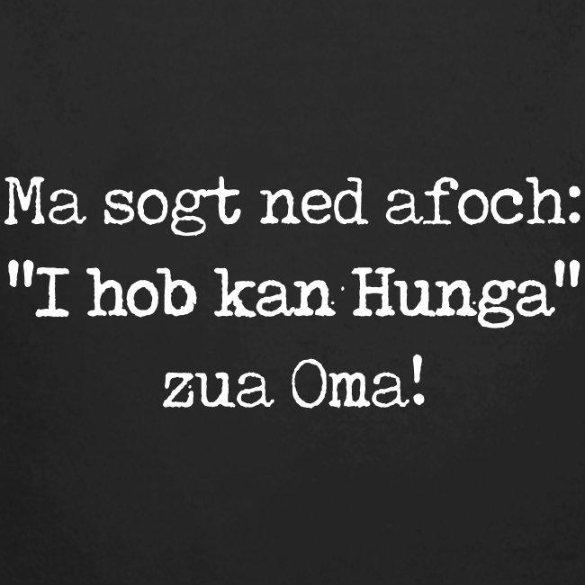 "Vorschau: Ma sogt ned afoch ""I hob kan Hunga"" zua Oma - Baby Bio-Langarm-Body"