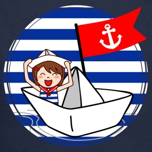 Marine - little sailor on his ship - Longlseeve Baby Bodysuit