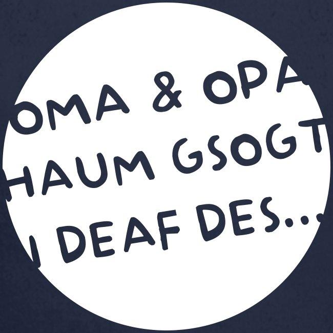 Vorschau: Oma Opa haum gsogt i deaf des - Baby Bio-Langarm-Body