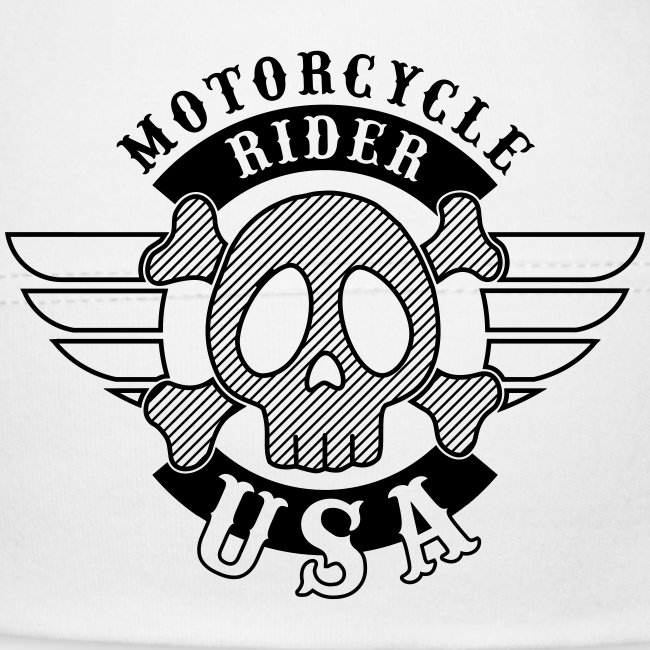 Motorcycle Rider USA 'Wing'