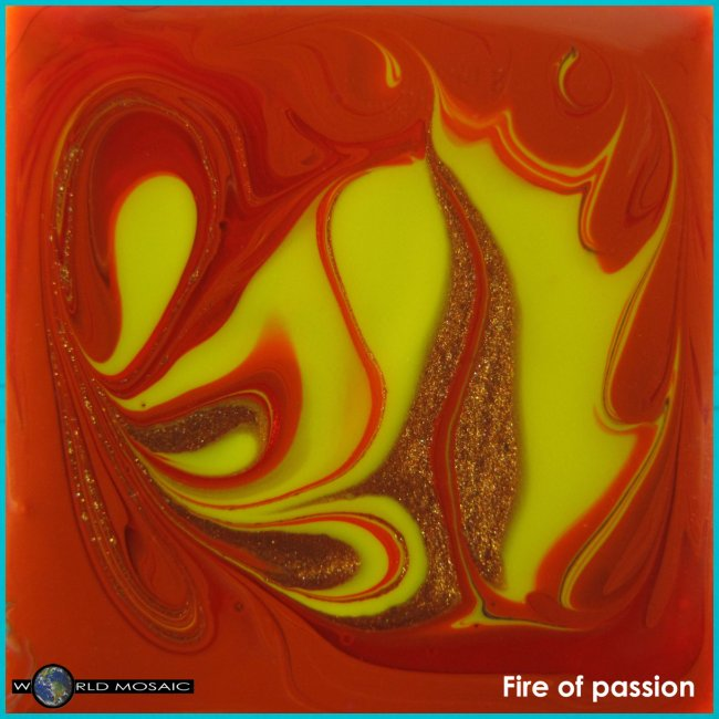 TIAN GREEN Mosaik DK011 - Fire of passion