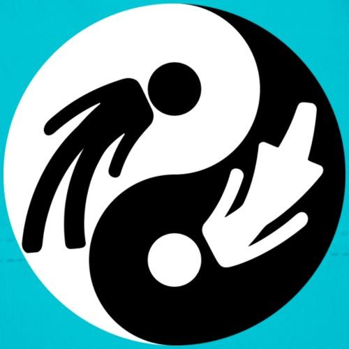 Yin Yang Male Female Symbol Duality Print - Baby Cap