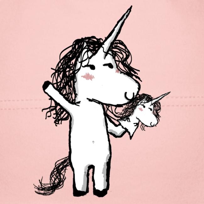 Unicorno con il suo felice amico