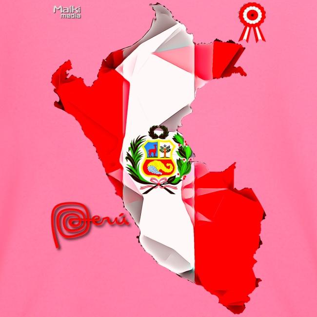 Mapa del Perú, Bandera y Escarapela