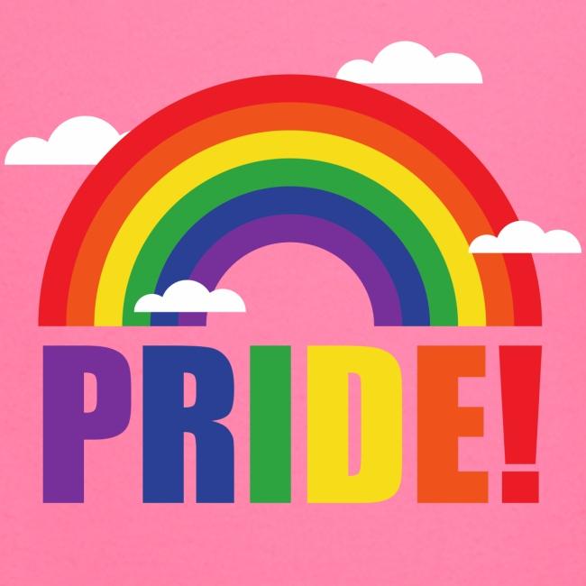 Pride Regenbogen mit Wolken   LGBT   Geschenkidee