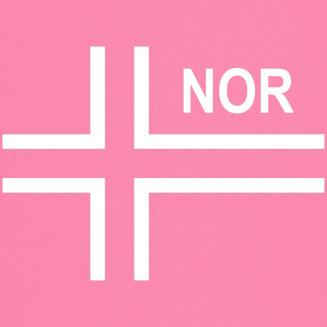 Norwegian Tactical Flag (Neg) Norway - Norge - NOR