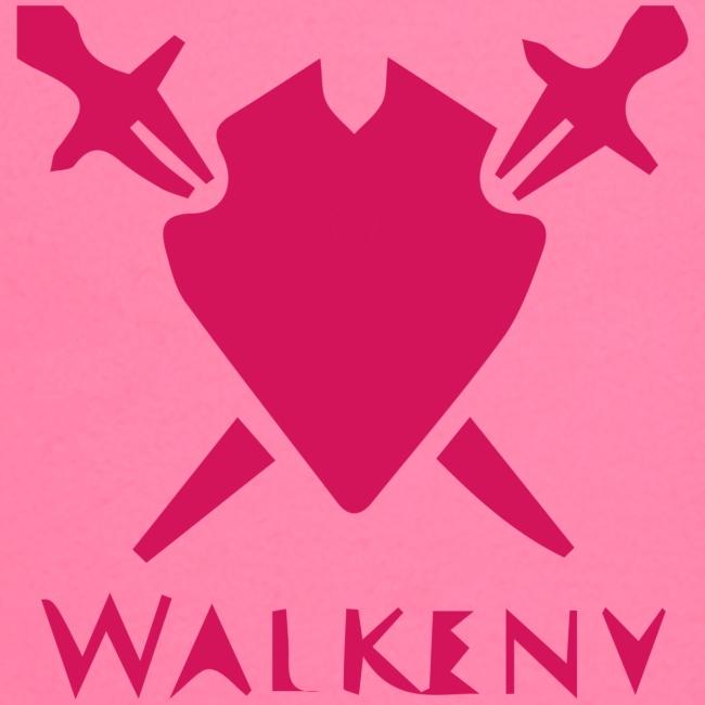 Das Walkeny Logo mit dem Schwert in PINK!