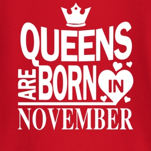 Birthday Shirt - Queens are born in NOVEMBER - Baby Langarmshirt