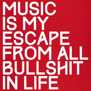 Music is my escape from all bull shirt in life - Baby Long Sleeve T-Shirt