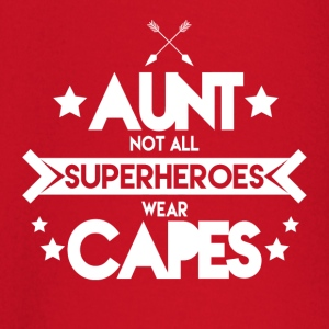 Aunt - Not all superheroes wear capes - Baby Long Sleeve T-Shirt