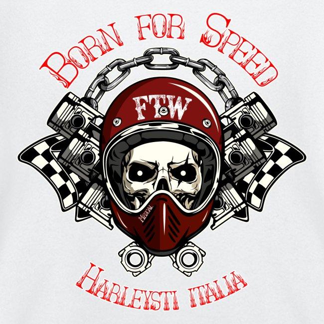 Born for Speed - Teschio casco pistoni - By Mescal