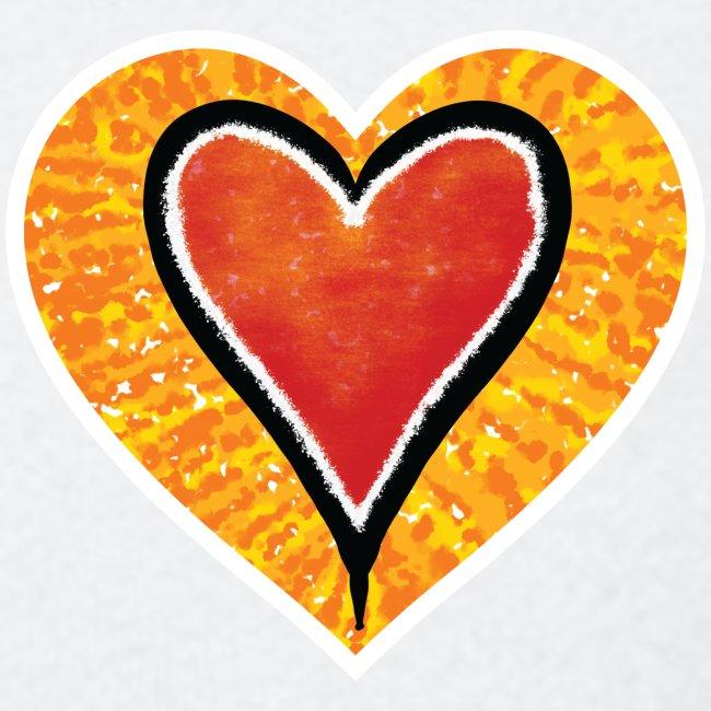 Red heart under Fire