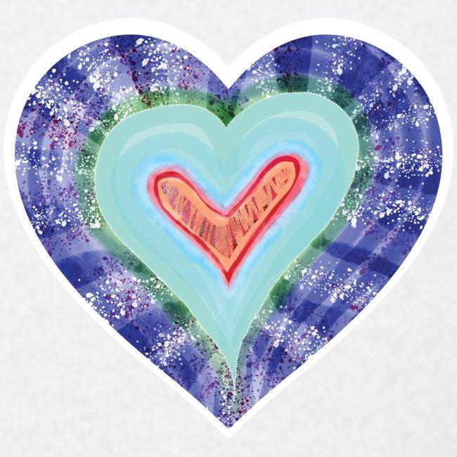HeartSpread 18Little red heart in a green garden