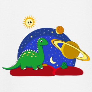 Dinosaur Space Space Saturn moon Planet - Baby Long Sleeve T-Shirt