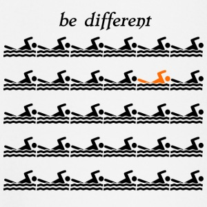 "Swimmershirt swimmers shirt ""be different"" - Baby Long Sleeve T-Shirt"
