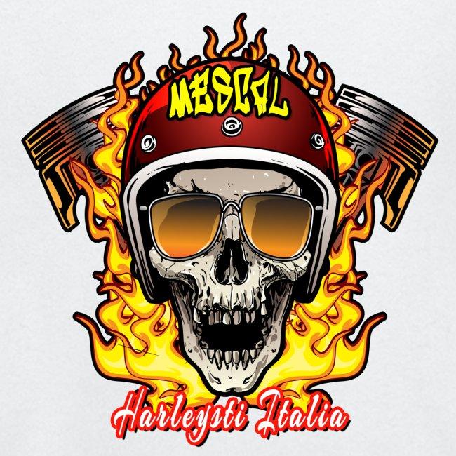 Teschio in fiamme per motociclisti by Mescal