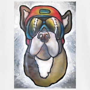 Bulldog with sunglasses and helmet - Baby Long Sleeve T-Shirt