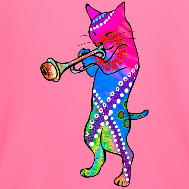 Jazz Cat plays the Trumpet