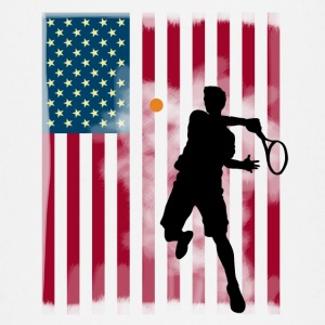 ster tennis ons te openen Amerika flagg tibreak Player - T-shirt